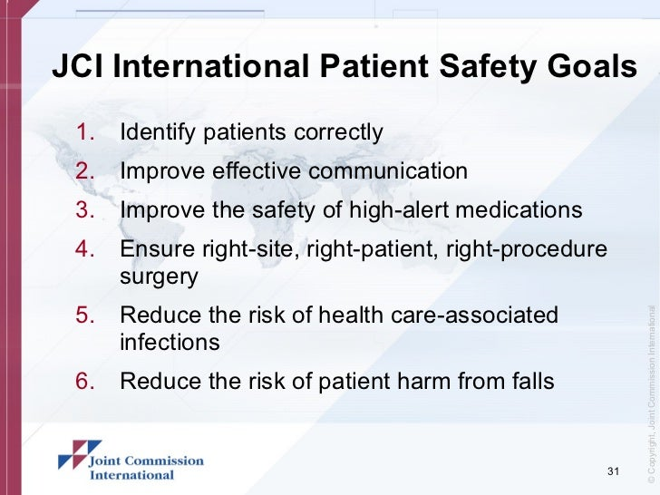 joint commission patient safety goals | just b.CAUSE