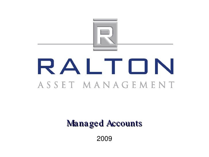 Managed Accounts 2009