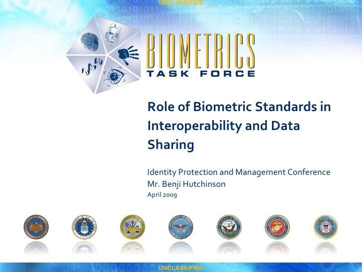 Role of Biometric Standards in IdM