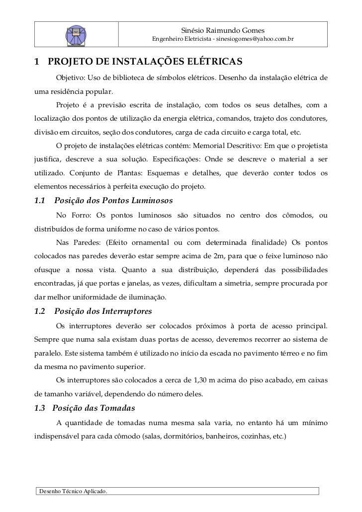 DET1 Desenho Elétrico Planta Baixa