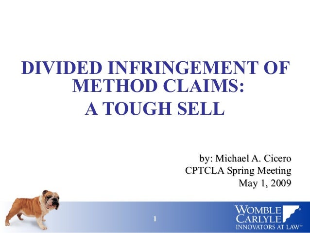 Divided Infringement of Method Claims: A Tough Sell