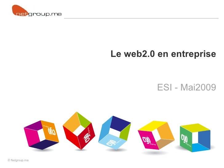 Le web2.0 en entreprise ESI - Mai2009