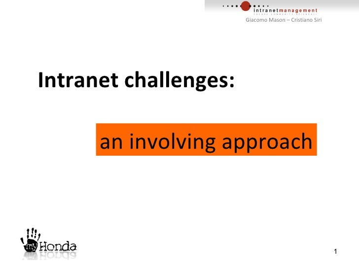 Intranet challenges:  an involving approach
