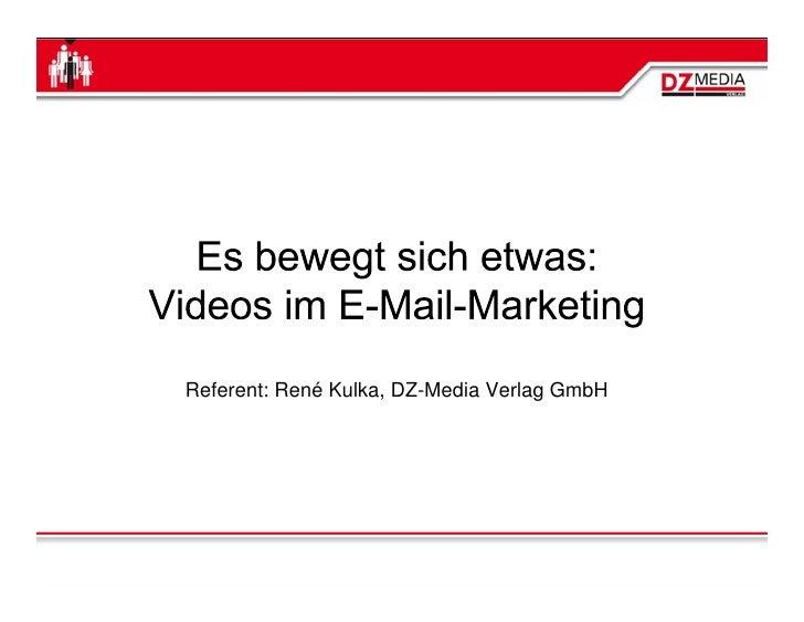 Referent: René Kulka, DZ-Media Verlag GmbH
