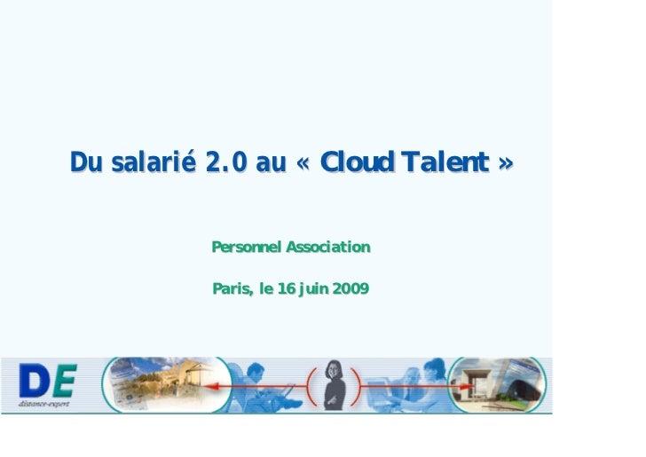 Du Salarié 2.0 Au Cloud Talent