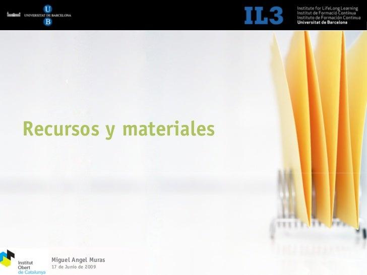 Jornada IOC. Materiales y recursos