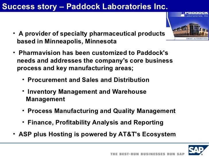 Sap In Pharmaceutical Industry