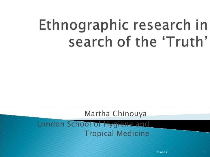 Martha Chinouya  London School of Hygiene and Tropical Medicine 21/09/09