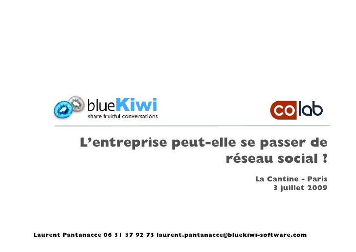 Collab : blueKiwi Barcamp Cantine