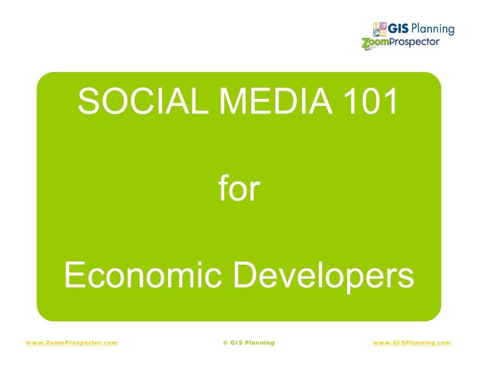 Social Media 101 For Economic Developers