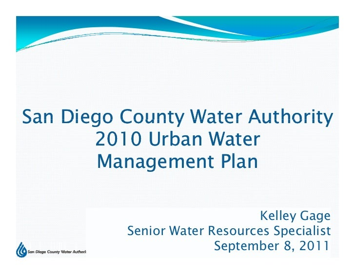 San Diego County Water Authority       2010 Urban Water        Management Plan                     l                      ...