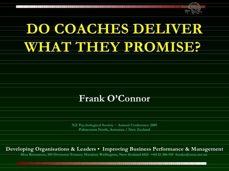 090828 ~ O Connor ~ Coaching