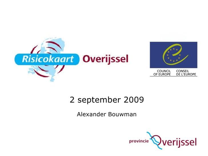 2 september 2009 Alexander Bouwman