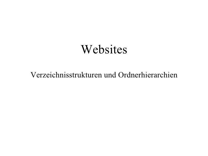 Websites Verzeichnisstrukturen und Ordnerhierarchien