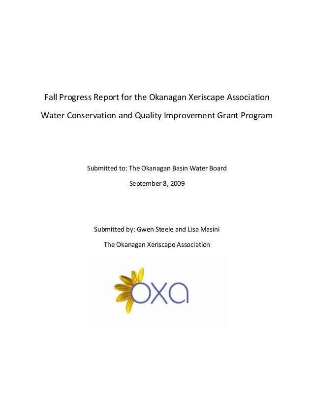 Report for the Okanagan Xeriscape Association - British Columbia, Canada