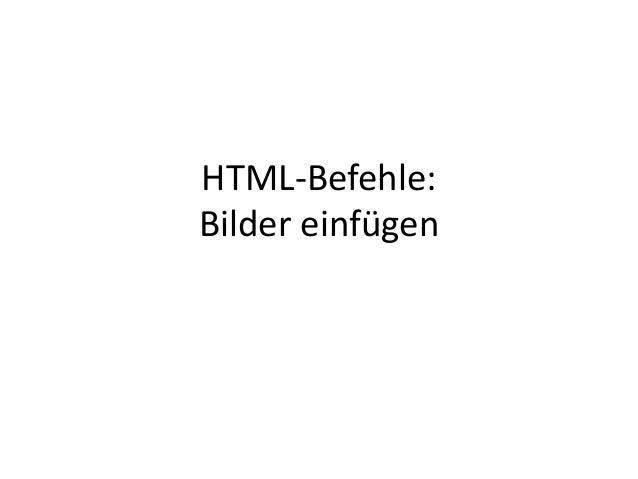 HTML-Befehle: Bilder einfügen