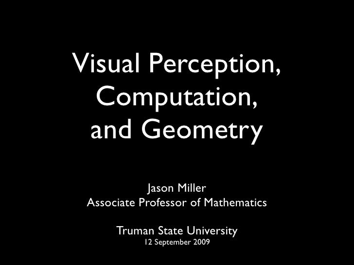 Computer Vision, Computation, and Geometry