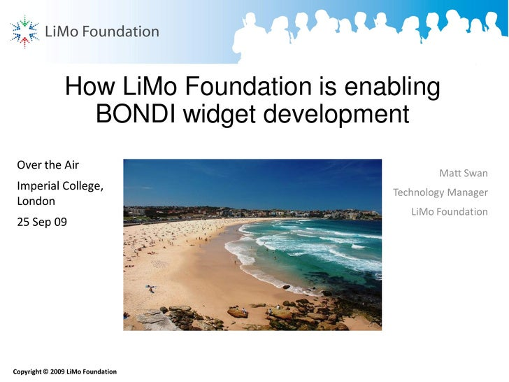 How LiMo Foundation is enabling                  BONDI widget development  Over the Air                                   ...