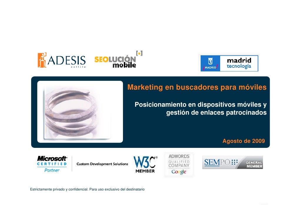 Marketing en buscadores para móviles                                                                    Posicionamiento en...