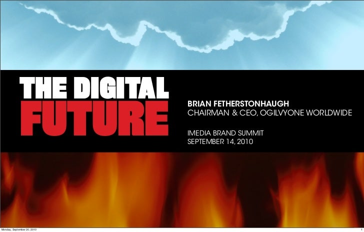 "Keynote: ""The Digital Future: Highway to Hell or Stairway to Heaven?"""