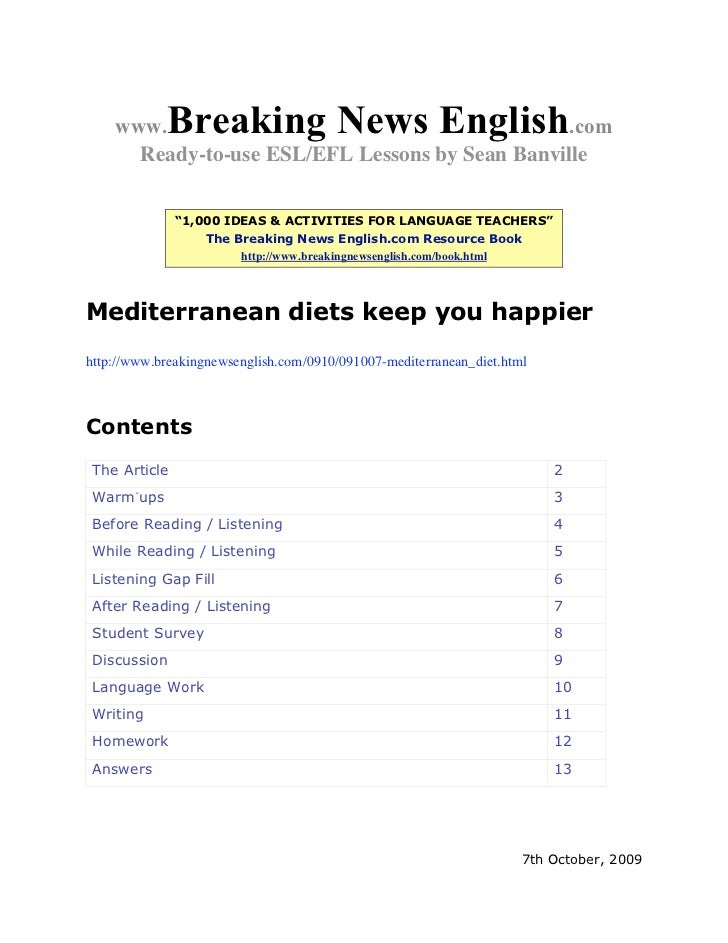 """www.    Breaking News English               .com      Ready-to-use ESL/EFL Lessons by Sean Banville               """"1,000 I..."""