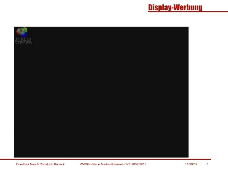 WWB6 - Neue Medien/Internet - WS 2009/2010 11/20/09