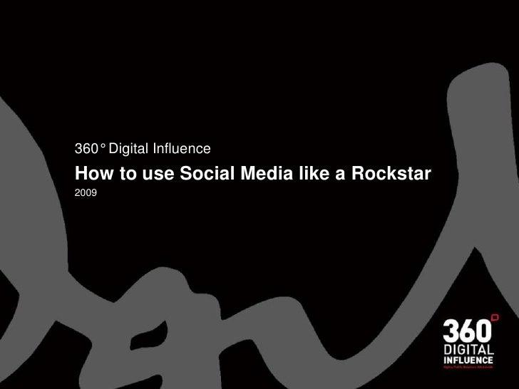 How to use Social Media like a Rockstar