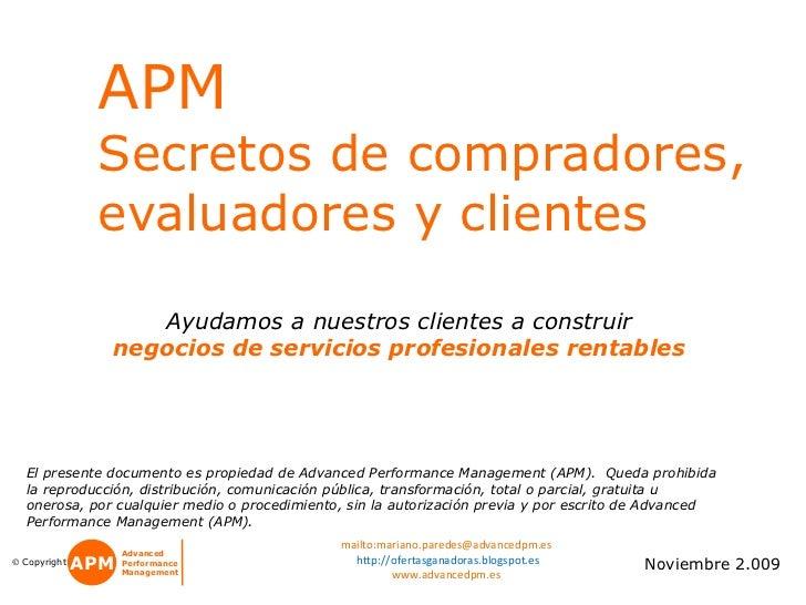 Apm -  Secretos De Compradores   V010