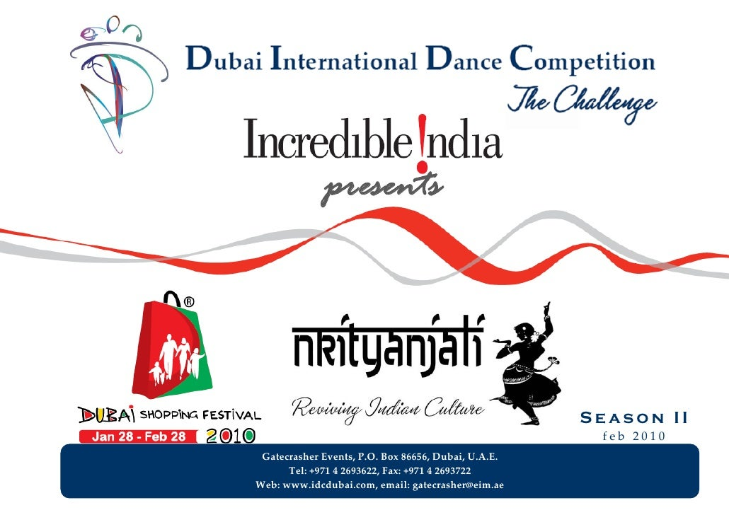 Dubai International Dance Competition Nrityanjali Jan29