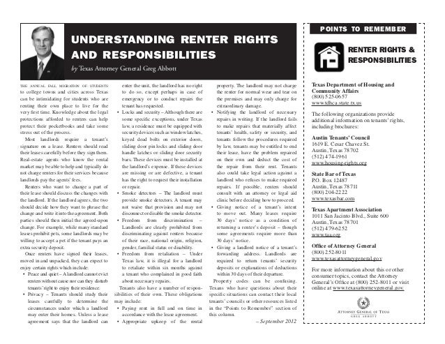 points to remember                          understanding renter rights                                                   ...
