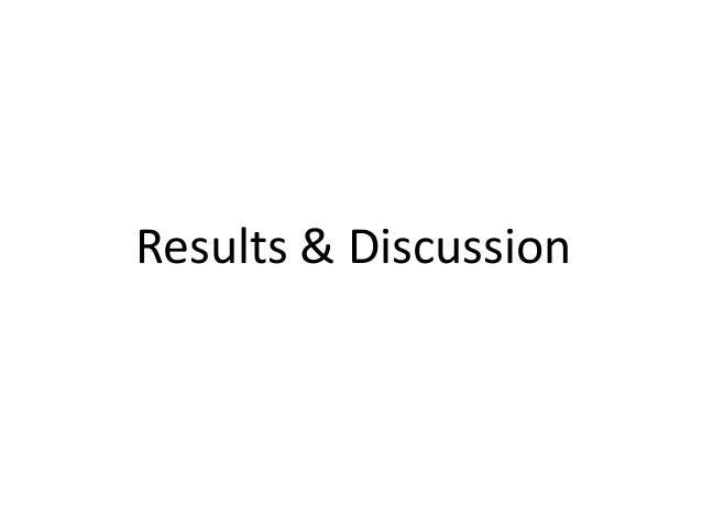 Results & Discussion