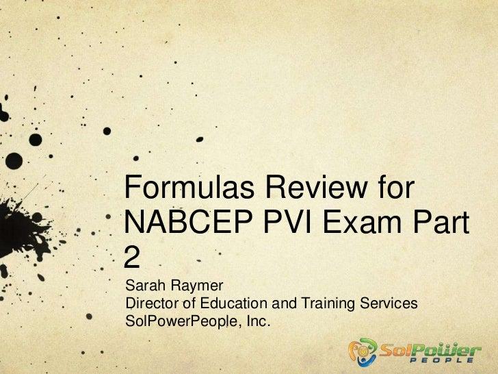 Formulas Review part 2 - edited 9/20/12