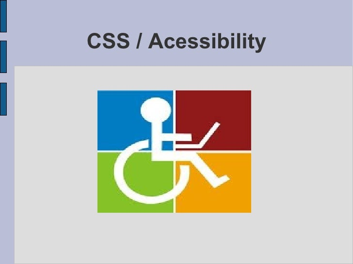 CSS / Acessibility
