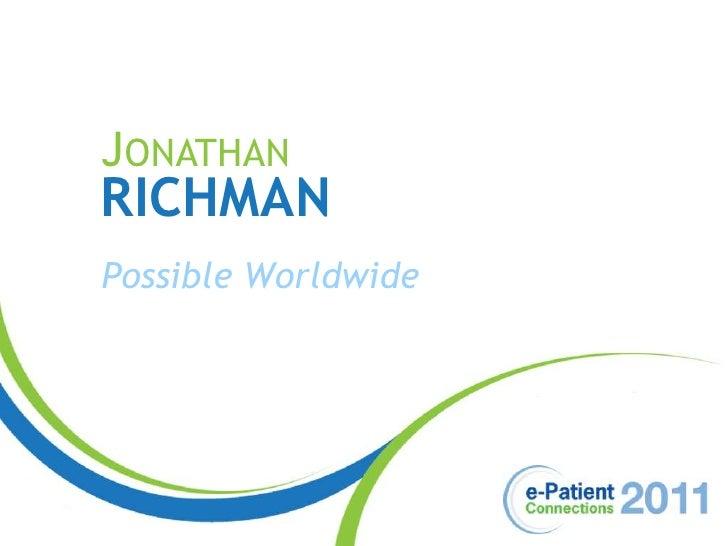 Jonathan<br />Richman<br />Possible Worldwide<br />