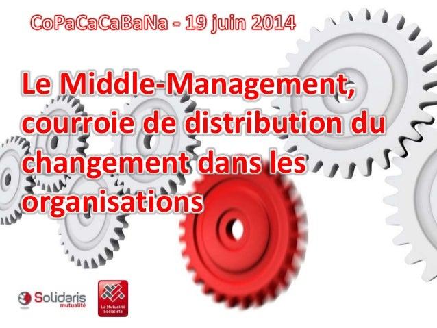 Le Middle-Management, courroie de distribution du changement dans les organisations