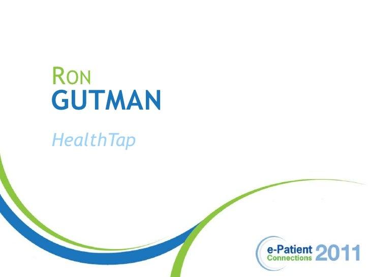 Ron<br />Gutman<br />HealthTap<br />
