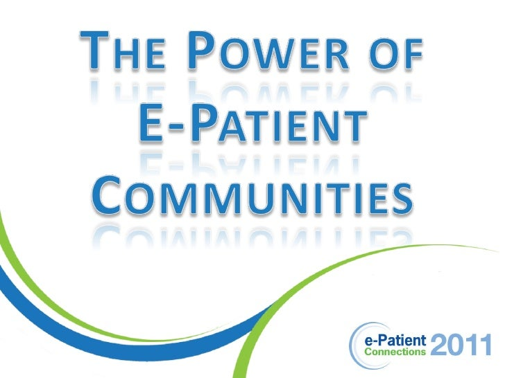 ePatCon11: Cryer - Patient Advocacy in 3-D