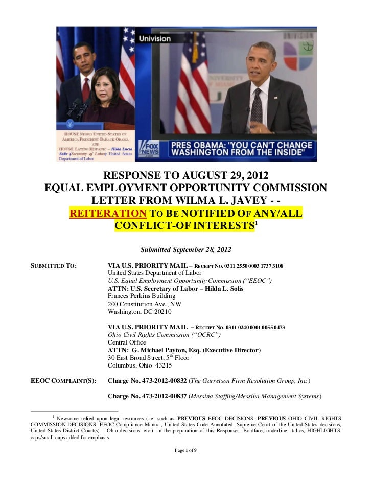 09/28/12 EEOC Response & Exhibits