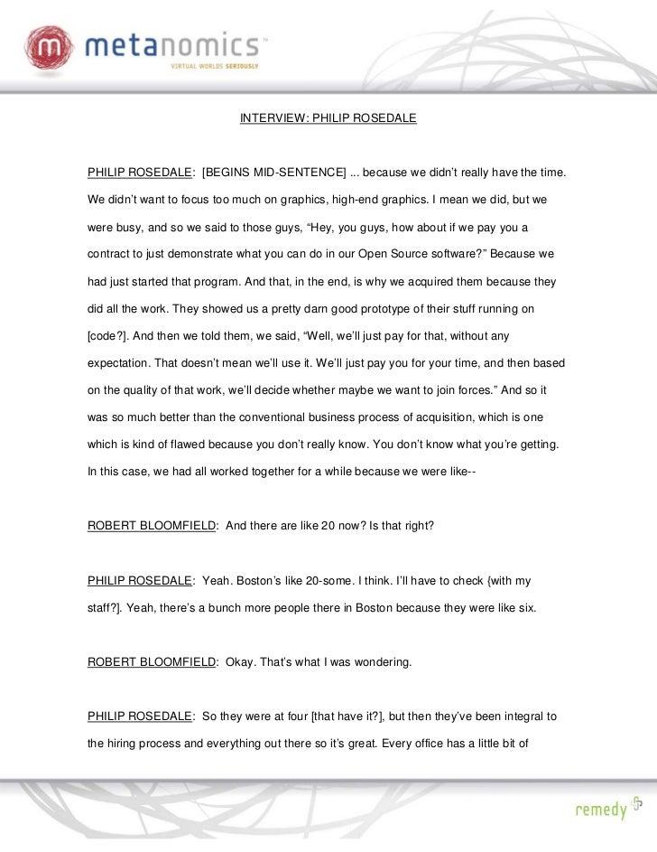 092908 Rosedales Vision2 Metanomics Transcript