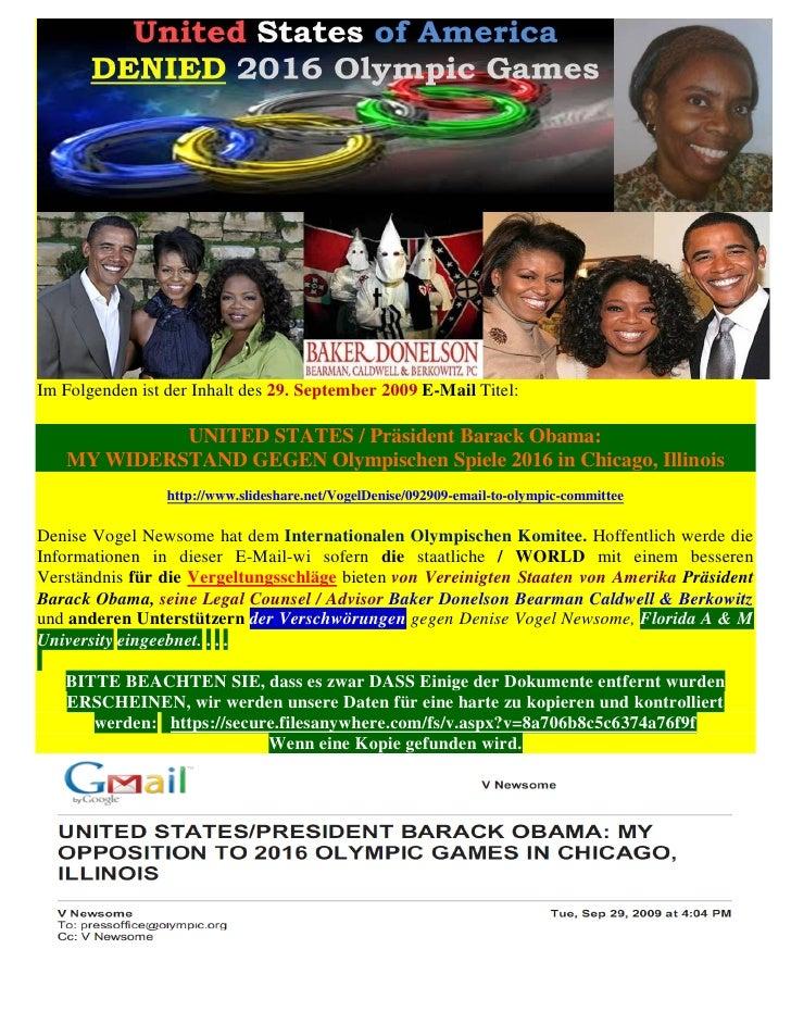 Im Folgenden ist der Inhalt des 29. September 2009 E-Mail Titel:            UNITED STATES / Präsident Barack Obama:   MY W...