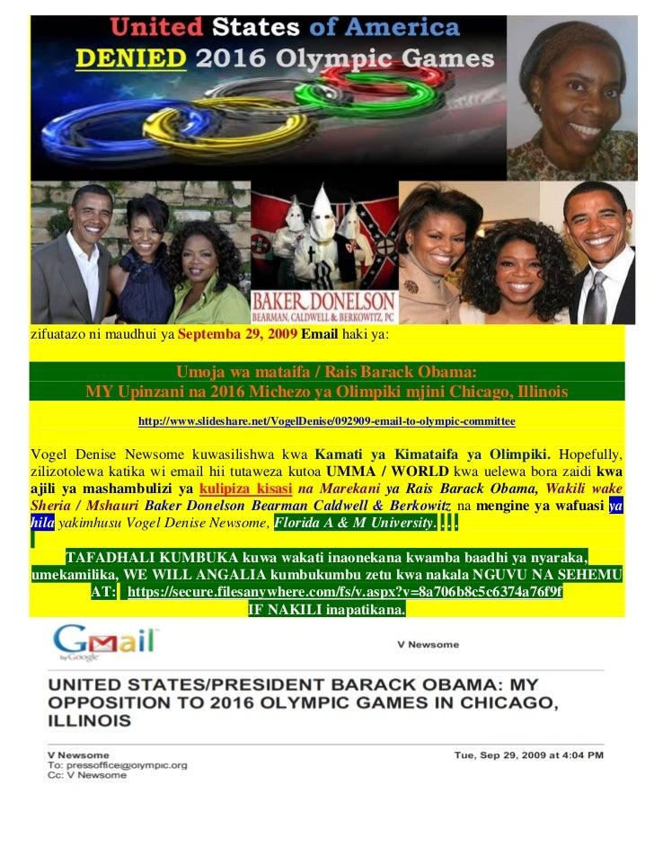 zifuatazo ni maudhui ya Septemba 29, 2009 Email haki ya:                  Umoja wa mataifa / Rais Barack Obama:        MY ...