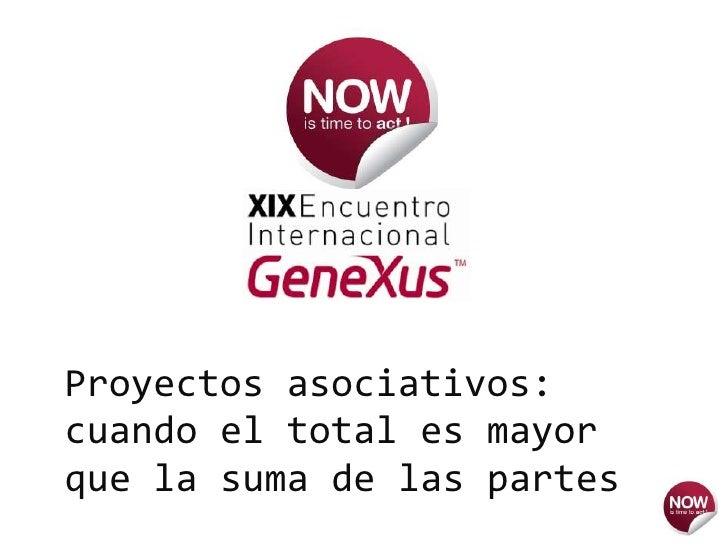 096 Proyectos Asociativos Cuando El Total Es Mayor Que La Suma De Las Partes