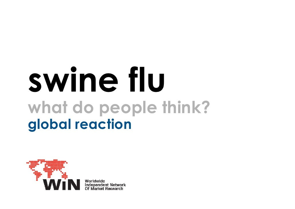 swine flu what do people think? global reaction ICM Research
