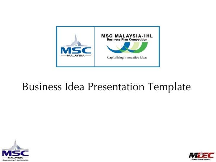 097659  M I B P C2009 Business Idea Presentation Templatev1.0
