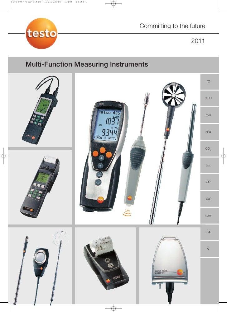Testo - Multifunction Measuring Instruments