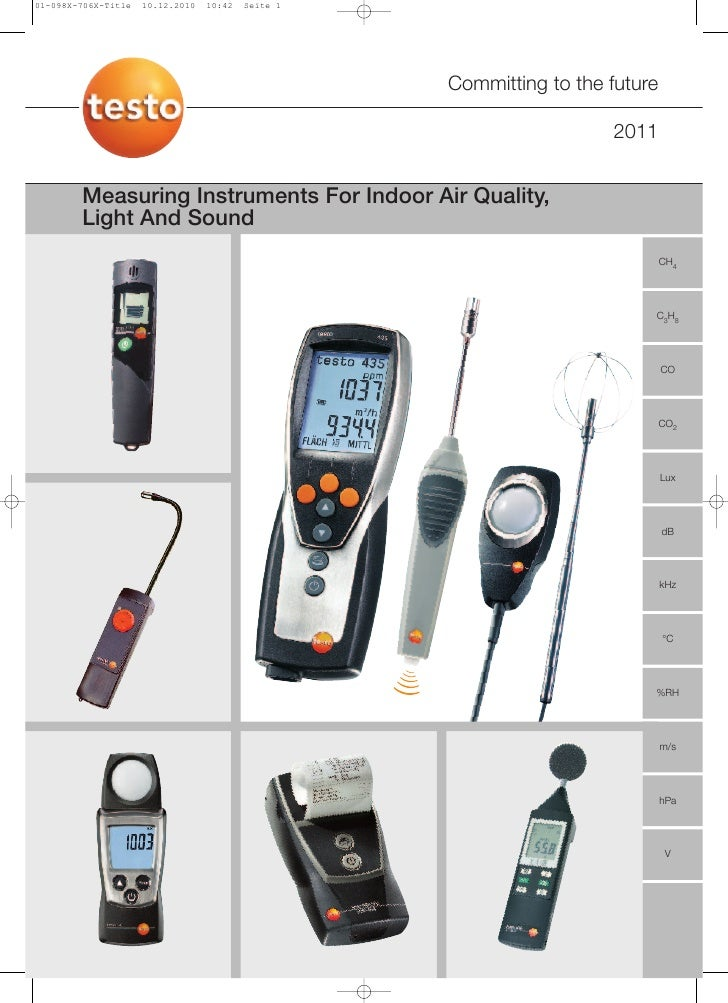 Testo - IAQ - Light And Sound Instruments