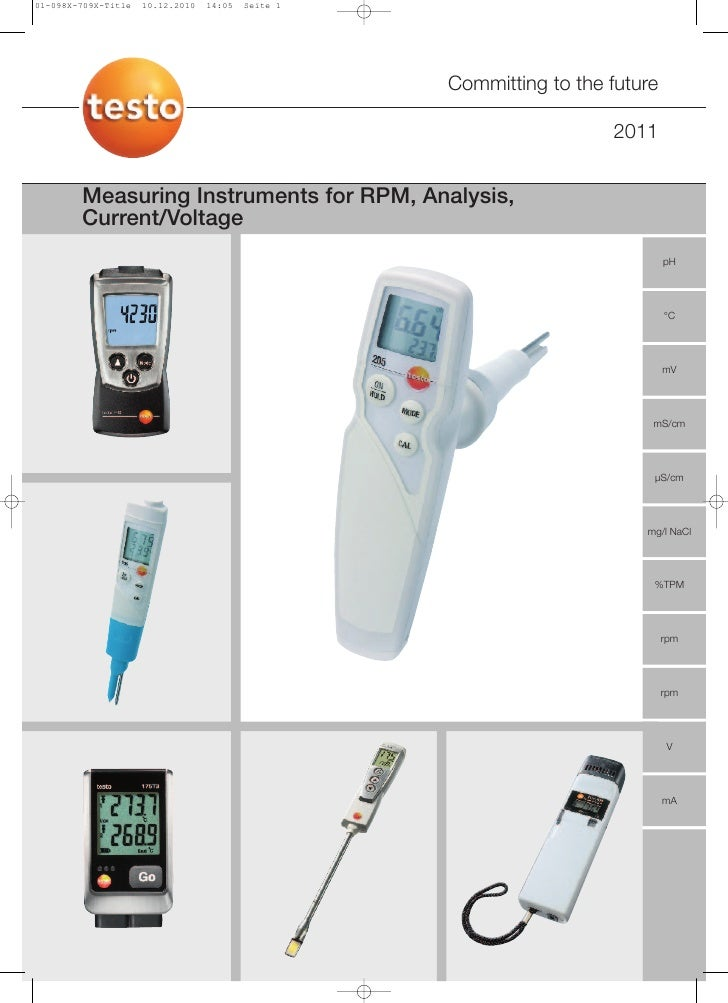Testo - Measuring Instruments for RPM, Analysis, Current/Voltage