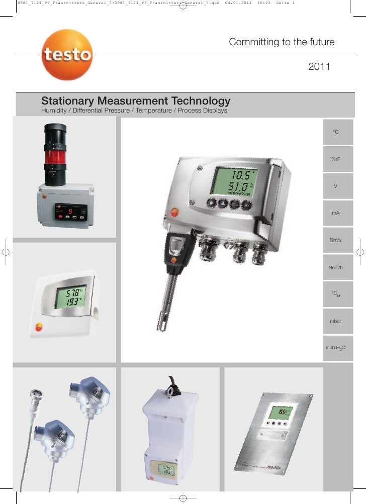 Testo - Stationary Measurement  - Humidity and Temperature
