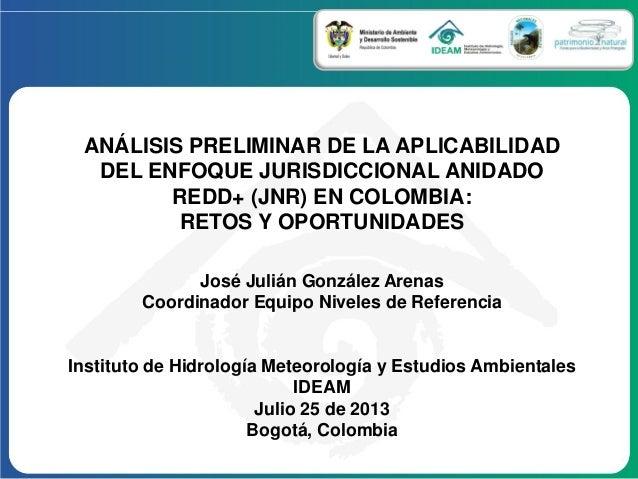 José Julián González Arenas Coordinador Equipo Niveles de Referencia Instituto de Hidrología Meteorología y Estudios Ambie...