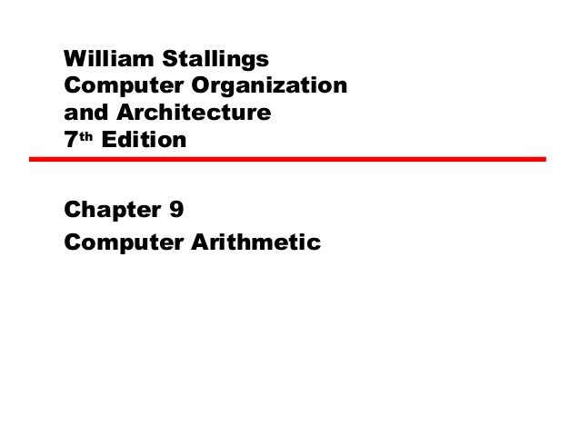 William StallingsComputer Organizationand Architecture7th EditionChapter 9Computer Arithmetic